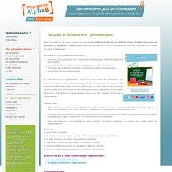 Guide alphabétisation - ressources pédagogiques pour enseigner la langue française