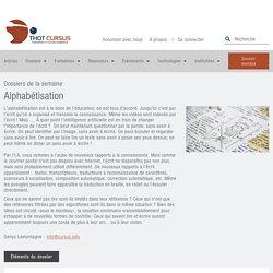 Alphabétisation - Thot Cursus