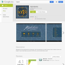 Alphabets - Apps on Android Market