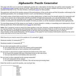Alphametic Puzzle Generator