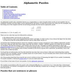 Alphametic Puzzles