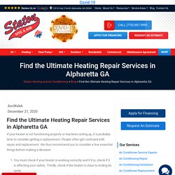 Find the Ultimate Heating Repair Services in Alpharetta GA