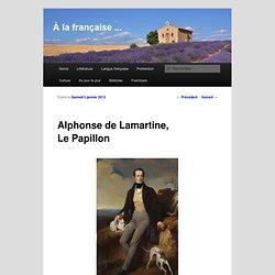 Alphonse de Lamartine, Le Papillon