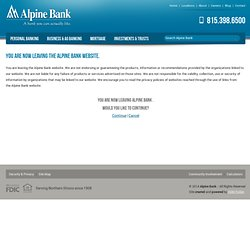 Alpine Bank > A bank you can actually like.