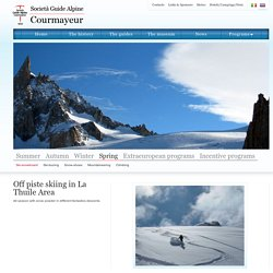 Guide Alpine Courmayeur: Off piste skiing in La Thuile Area