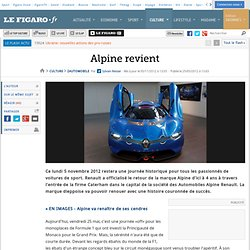 Automobile : Alpine sur le point de revenir
