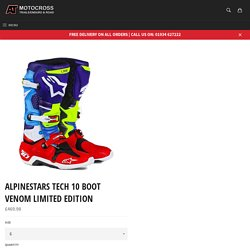 ALPINESTARS TECH 10 BOOT VENOM LIMITED EDITION