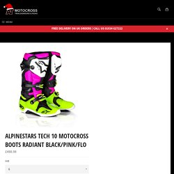 Alpinestars Tech 10 Motocross Boots Radiant Black/Pink/Flo