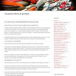 >>> Magazine escalade et alpinisme en ligne: LES BASES DE L'ENTRAÎNEMENT EN ESCALADE