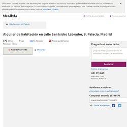Alquiler de habitación en calle San Isidro Labrador, 8, Palacio, Madrid