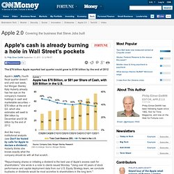 Apple's cash is already burning a hole in Wall Street's pockets