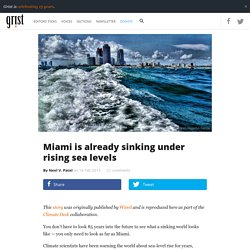 Miami is already sinking under rising sea levels