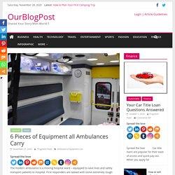 ALS Ambulance Equipment List