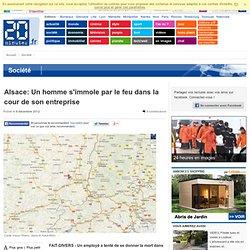 Alsace: Un homme s'immole par le feu dans la cour de son entreprise