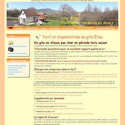 Gite en Alsace pas cher-tarifs et disponibilités