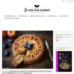 Gâteau de santé alsacien aux quetsches, aux pommes et à la cannelle