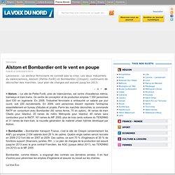 Alstom et Bombardier ont le vent en poupe