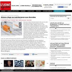 Alstom dope sa maintenance aux données