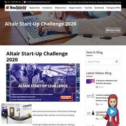 Altair Startup Challenge 2020, Altair Grand Challenge 2020