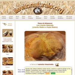 Pane Altamura con Semola Rimacinata e Lievito Naturale o Pasta Madre