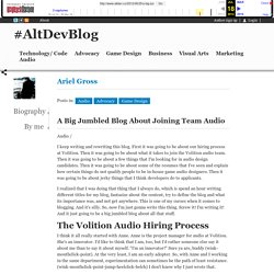 #AltDevBlog » A Big Jumbled Blog About Joining Team Audio