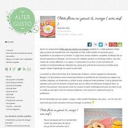 Petits flans au yaourt & orange ( sans œuf ) -