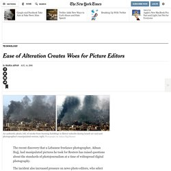 Ease of Alteration Creates Woes for Picture Editors