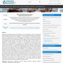 S. Agalactiae-Antimicrobial Sensitivity, Biochemical Reactions & Bio Typing