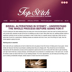 Bridal Alterations in Sydney – Understand the Whole Process Before Going for It -