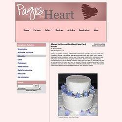 Hat Box Wedding Cake Card Holder