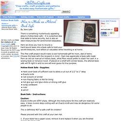 Altered Book Safe - Recycled Book Safe