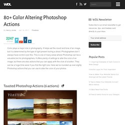 80+ Color Altering Photoshop Actions