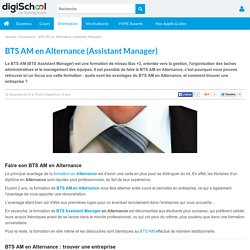 BTS AM en Alternance - BTS Assistant Manager en alternance