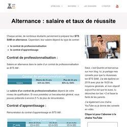Alternance : salaire et taux de réussite - BTS SAM