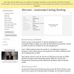 Alternant - Assistant(e) Casting/Booking, VENTE-PRIVEE.COM, PARIS - FashionJobs.com France (#1788284)