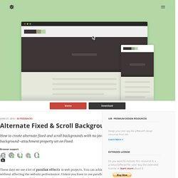 CSS Alternate Fixed & Scroll Backgrounds