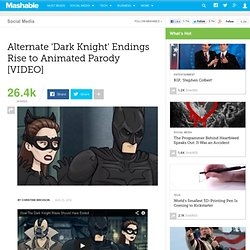 Alternate 'Dark Knight' Endings Rise to Animated Parody [VIDEO]