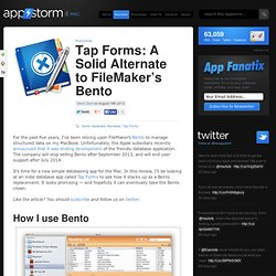 Tap Forms: A Solid Alternate to FileMaker's Bento