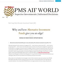Best Long Only Alternate Investment Funds (AIF) – PMS AIF WORLD