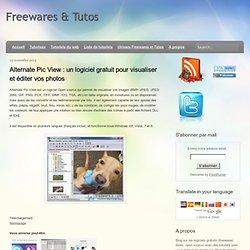 un logiciel gratuit pour visualiser et éditer vos photos