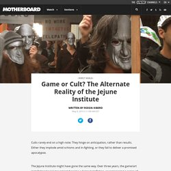 Game or Cult? The Alternate Reality of the Jejune Institute
