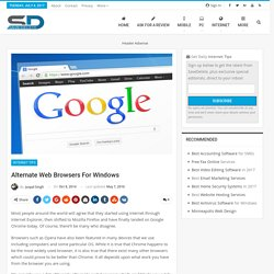 Alternate Web Browsers for Windows