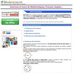 Description des alternateurs (2), Soutien scolaire, Cours Electrotechnique, Maxicours