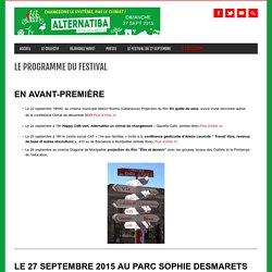 Le programme du festival ⁕ Alternatiba Montpellier
