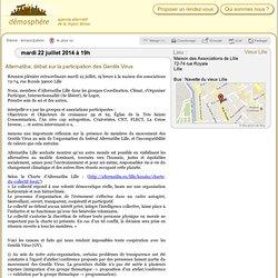 22 juil.: Alternatiba, débat sur la participation des Gentils Virus / Vieux Lille