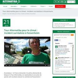 Tour Alternatiba pour le climat : Incident surréaliste à Fessenheim