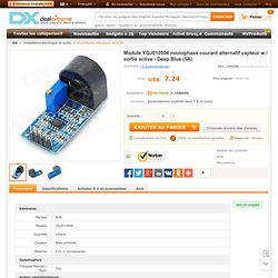 YQJ010504 Single Phase AC Current Sensor Module w/ Active Output - Deep Blue (5A) - Free Shipping