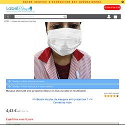 Masque alternatif anti-projection Blanc en tissu lavable et réutilisable - label-blouse.net