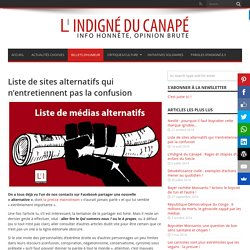 Liste de sites alternatifs qui n'entretiennent pas la confusion