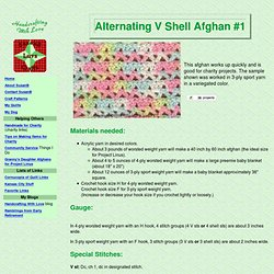 Alternating V Shell Afghan